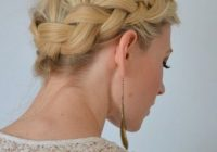 Elegant simple and easy hair updos popular haircuts Easy Braided Updos For Shoulder Length Hair Choices