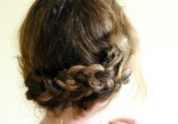 Elegant simple braided updo hairstyle tutorial updos for medium Easy Braided Updo For Medium Hair Choices