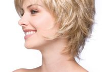 Elegant sky synthetic wig basic cap bob haircut for fine hair Feathered Haircuts For Short Hair Ideas