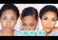 Elegant styling my twa short natural hair grwm video black Styling My Short Hair Inspirations