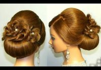 Elegant youtube long hair updo braided hairstyles for wedding Wedding Prom Hairstyle For Long Hair Updo Tutorial With Braided Flowers Ideas