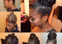 faux bun natural hair updo natural hair styles hair styles Bun Hairstyle For African American Hair Ideas