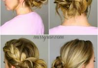 french braid into messy bun braided bun hairstyles French Braid Bun Hairstyles Tutorial Ideas