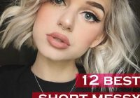 Fresh 12 best short messy hairstyles for women circletrest Short Messy Haircuts Ideas