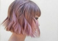Fresh 23 short hair with bangs hairstyle ideas photos included Cute Short Hairstyles With Long Bangs Choices