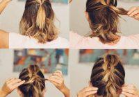 Fresh 27 braid hairstyles for short hair that are simply gorgeous Easy Fishtail Braid For Short Hair Ideas