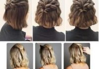Fresh 36 trendy hairstyles quick easy messy buns hairstyle women Easy Hairdos For Short Hair Pinterest Inspirations