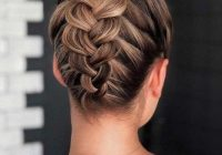 Fresh 45 trendy updo hairstyles for you to try lovehairstyles Braid Bun Hairstyles For Medium Hair Choices