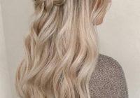 Fresh 48 perfect bridesmaid hairstyles ideas wedding forward Braided Hair For Bridesmaids Choices