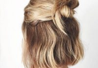 Fresh 50 cool ways you can sport updos for short hair hair Easy Half Up Half Down Hairstyles For Short Hair Inspirations