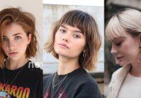 Fresh 55 hot short bobs with bangs haircuts and hairstyles for 2020 Short Bob Haircut With Bangs Ideas