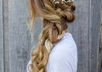 Fresh 9 braided hairstyles for spring 2016 makeup tutorials Romantic Prom Hairstyle For Long Hair With Braided Flower Inspirations