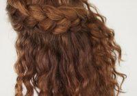 Fresh curly hair tutorial the half up braid hairstyle hair romance Braid Styles With Curly Hair Ideas