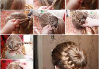 Fresh diy unique braided bun hairstyle Braid Hairstyles Step By Step With Pictures Choices