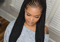 Fresh feed in braids ponytail africanbraids braiding African Hair Styles Braids Inspirations