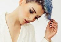 Fresh so cute short edgy haircuts 2019 with blue hair color to Short Edgy Hair Styles Inspirations