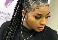 Fresh style inspiration braided plaits naturalhairinspiration Braided Hair Ponytail Styles Choices