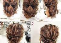 Fresh updos for short curly hair hair styles simple prom hair Cute Haircuts For Short Curly Hair Inspirations
