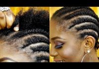 how to cornrow your own hair short natural hair tutorial Cornrows With Own Hair
