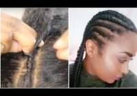 how to cornrow your own hair tutorial beginner friendly chanelli Cornrows With Own Hair