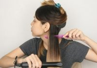 how to flat iron short hair 14 steps with pictures wikihow Styling Short Hair With Flat Iron Ideas