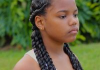 little black girl with two flat twists ending in curly 3 Year Old African American Hairstyles