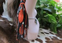 native american one hair wrap black deerskin leather with Native American Braid Wraps Designs