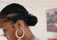 natural hair protective style cornrows tatyana ali Cornrows With Own Hair