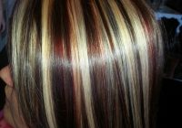 pin brittany davis on hair color haircuts misty Short Brown Hair With Blonde And Red Highlights Choices