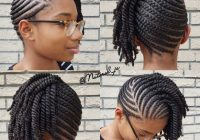 Stylish 10 natural hair winter protective hairstyles without Natural Hair Braided Styles Ideas