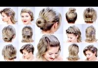 Stylish 11 super easy hairstyles with bob pins for short hair Short Hair Bobby Pin Styles Inspirations