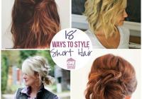 Stylish 18 easy styles for short hair Easy Short Hair Style Ideas