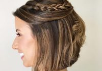 Stylish 19 cute easy updos for short hair Short Hair With Fringe Updos Ideas