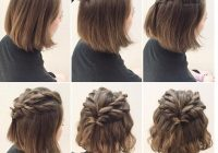 Stylish 25 cute short hairstyle with braids braided short haircuts Short Hair Styles With Braids Inspirations