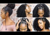 Stylish 5 curly hairstyles for natural hair wash routine youtube Hairstyles For African American Naturally Curly Hair Ideas