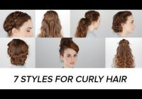 Stylish 7 easy hairstyles for curly hair beauty junkie Easy Everyday Hairstyles For Short Curly Hair Choices