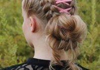 Stylish 8 ribbon braid hairstyles for little girls hairstylecamp Crocheted Ribbon Braided Hairstyle Choices