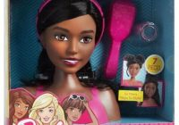Stylish barbie styling head doll fab friends african american black hair 7 piece toy new African American Hair Styling Doll Head Ideas