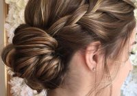 Stylish braid updo hairstyle for long hair that youll love Braid Hairstyle For Bridesmaid Ideas