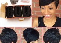Stylish brazilian human short hair extensions 27 pieces short human Short Hair Weaves Styles Ideas