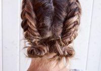 Stylish double dutch fishtail buns braids for short hair short Easy Fishtail Braid For Short Hair Ideas