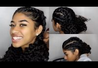 Stylish easy braided hairstyles for curly hair youtube Braid Hairstyles For Medium Curly Hair Choices