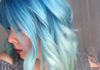 Stylish eye catching blue hair color ideas on short hair Blue Short Hair Styles Ideas