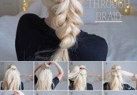 Stylish hairstyle step step pull through braid tutorial Hair Braids Step By Step Pinterest Ideas