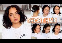 Stylish how i style my short hair very easy youtube Styling Your Short Hair Ideas