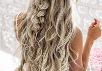 Stylish long hairstyles and haircuts 60 wonderful hairstyles Half Up Half Down Braided Hairstyles Pinterest Ideas
