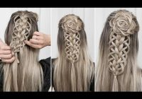 Stylish loop braid combo part 1 flower rosette diy youtube Rosette Flower Braid Hairstyle For Medium Long Hair Tutorial Choices