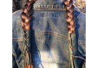 Stylish native american hair wrap hair clasp leather hair ties Native American Braid Wraps