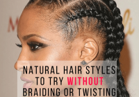 Stylish natural hair styles to try without braiding or twisting Natural Braid Hair Styles Choices
