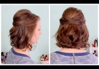 Stylish quick half up hairstyle for short hair Simple Hairstyle For Short Hair For Wedding Ideas